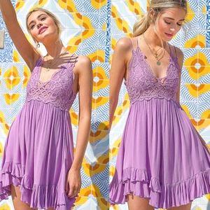 TYRA Boho chic Dress - LAVENDER
